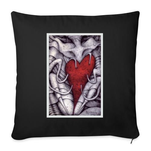 Demoni in Amore - Cuscino da divano 44 x 44 cm con riempimento