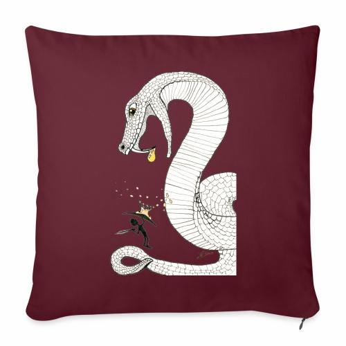 Poison - Combat contre un serpent venimeux géant - Coussin et housse de 45 x 45 cm