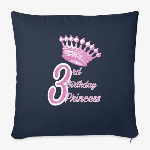 3rd Birthday Princess - Cuscino da divano 44 x 44 cm con riempimento