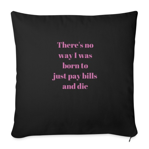 No way - Sofa pillow with filling 45cm x 45cm