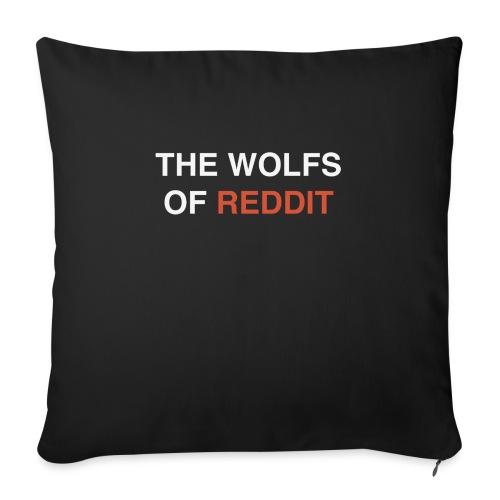 The wolfs of reddit - Cojín de sofá con relleno 44 x 44 cm