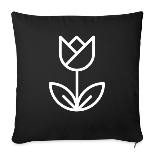 Tulip white png - Sofa pillow with filling 45cm x 45cm