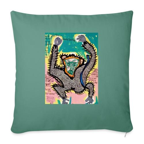 the monkey - Cuscino da divano 44 x 44 cm con riempimento