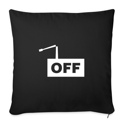 OFF Logomania White Series - Sofa pillow with filling 45cm x 45cm