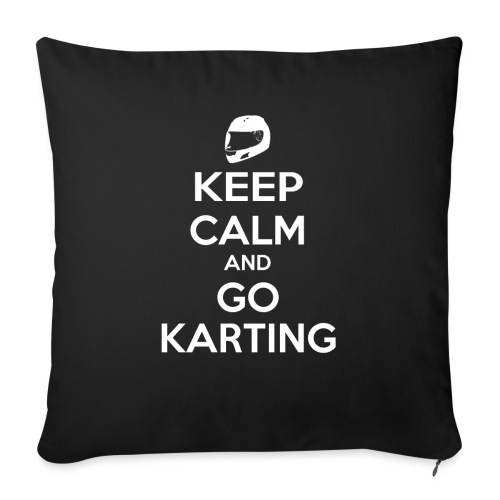 Keep Calm and Go Karting - Sofa pillow with filling 45cm x 45cm
