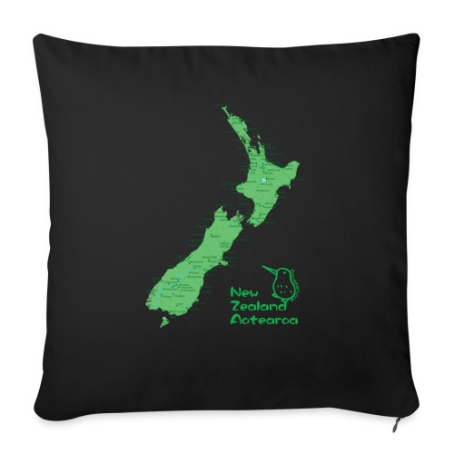 New Zealand's Map - Sofa pillow with filling 45cm x 45cm