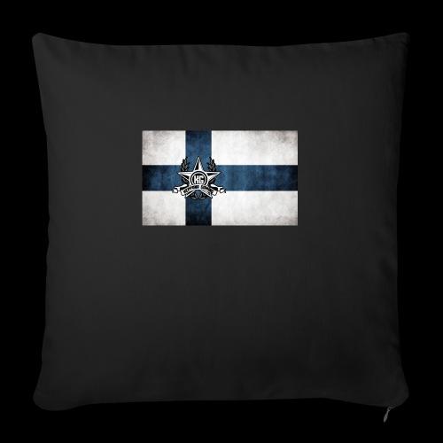 Suomen lippu - Sohvatyynyt täytteellä 44 x 44 cm
