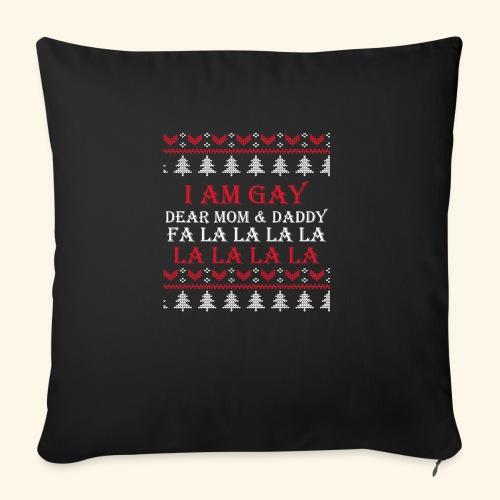 Gay Christmas sweater - Poduszka na kanapę z wkładem 44 x 44 cm
