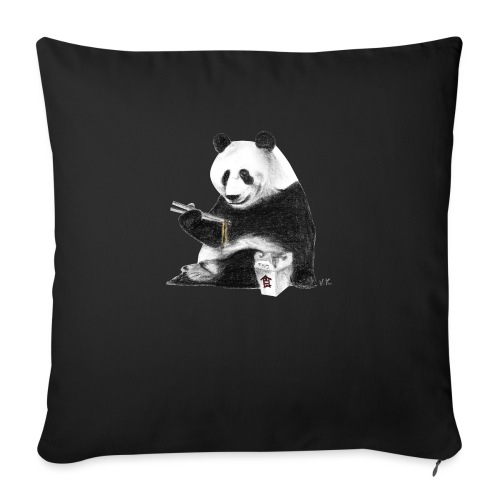 Panda Eating Noodles - Sofa pillow with filling 45cm x 45cm
