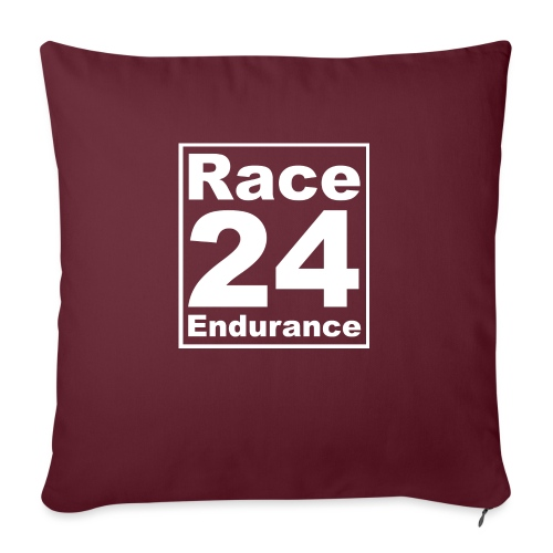 Race24 Logo - White - Sofa pillow with filling 45cm x 45cm