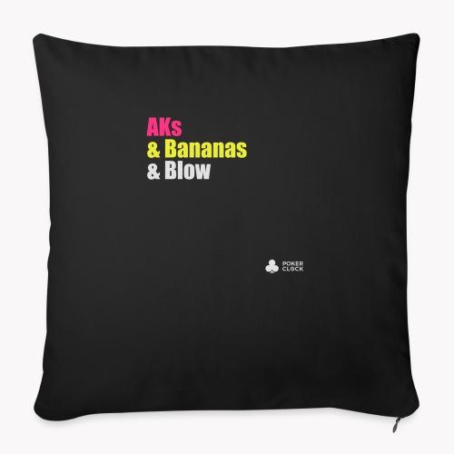 AKs & Bananas & Blow - Sofakissen mit Füllung 44 x 44 cm