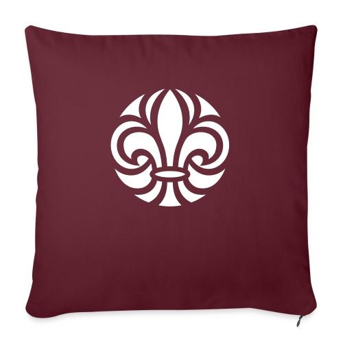 Scouterna-symbol_white - Soffkudde med stoppning 44 x 44 cm