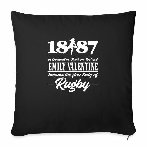 Marplo Emily Valentine white - Cuscino da divano 44 x 44 cm con riempimento