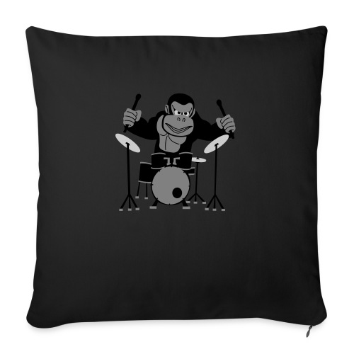 Drumming Gorilla - Sofa pillow with filling 45cm x 45cm