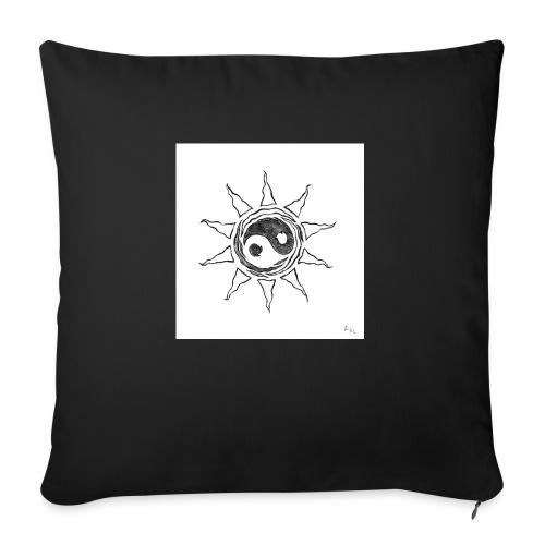 sole yin yang - Cuscino da divano 44 x 44 cm con riempimento