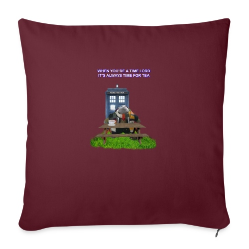 TIME AND SPACE AND TEA - Sofa pillow with filling 45cm x 45cm