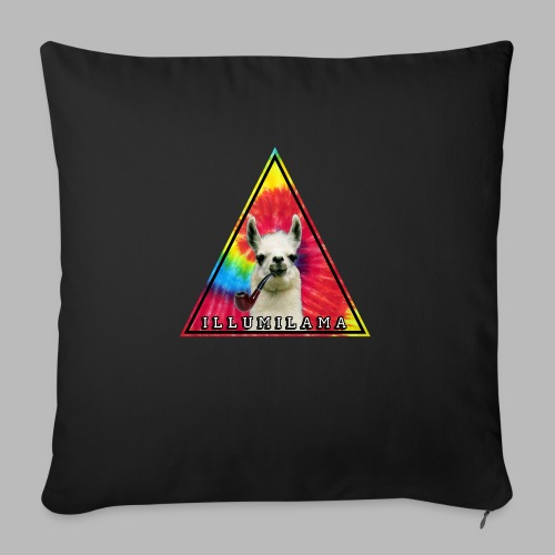 Illumilama logo T-shirt - Sofa pillow with filling 45cm x 45cm