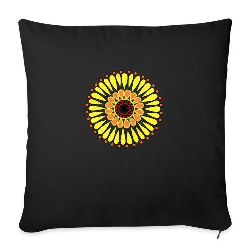 Yellow Sunflower Mandala - Sofa pillow with filling 45cm x 45cm