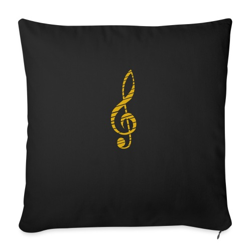 Goldenes Musik Schlüssel Symbol Chopped Up - Sofa pillow with filling 45cm x 45cm