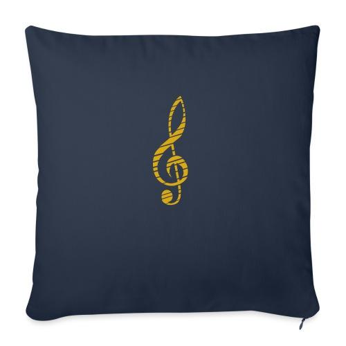Goldenes Musik Schlüssel Symbol Chopped Up - Sofa pillow with filling 45cm x 45cm