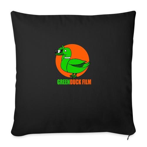 Greenduck Film Orange Sun Logo - Sofapude med fyld 44 x 44 cm