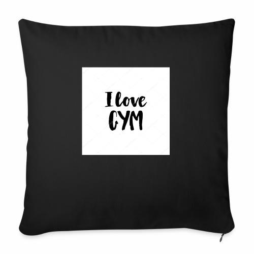 I love gym - Soffkudde med stoppning 44 x 44 cm