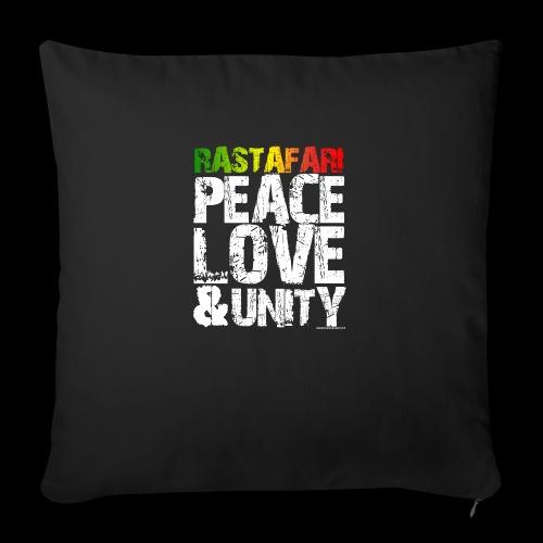 RASTAFARI - PEACE LOVE & UNITY - Sofakissen mit Füllung 44 x 44 cm