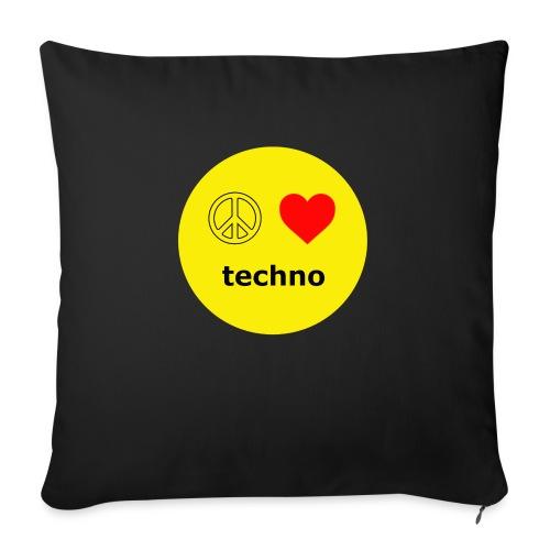 paz amor techno - Cojín de sofá con relleno 44 x 44 cm