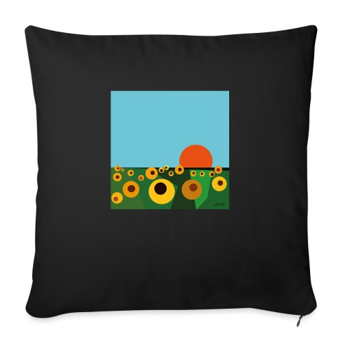 Sunflower - Sofa pillow with filling 45cm x 45cm