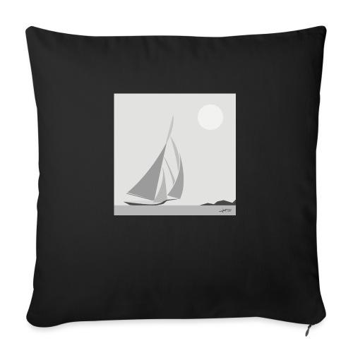 sailing ship - Sofa pillow with filling 45cm x 45cm