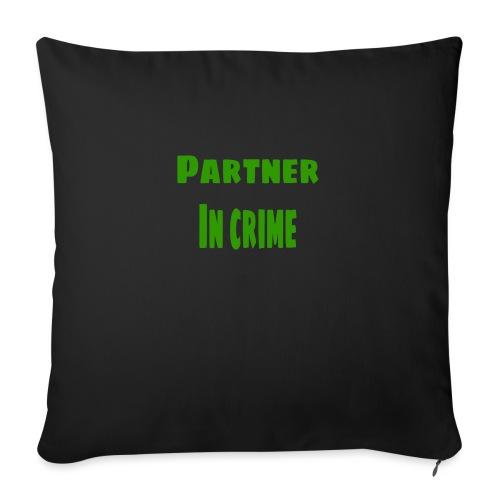 Partner in crime green - Soffkudde med stoppning 44 x 44 cm