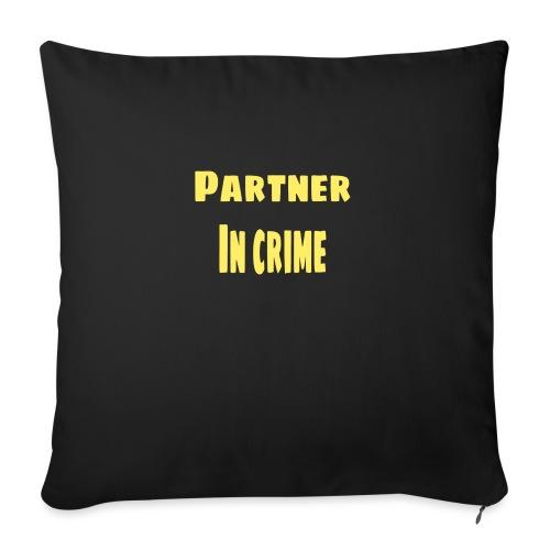 Partner in crime yellow - Soffkudde med stoppning 44 x 44 cm
