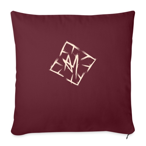 Across Yourself - Logo white transparent - Sofa pillow with filling 45cm x 45cm