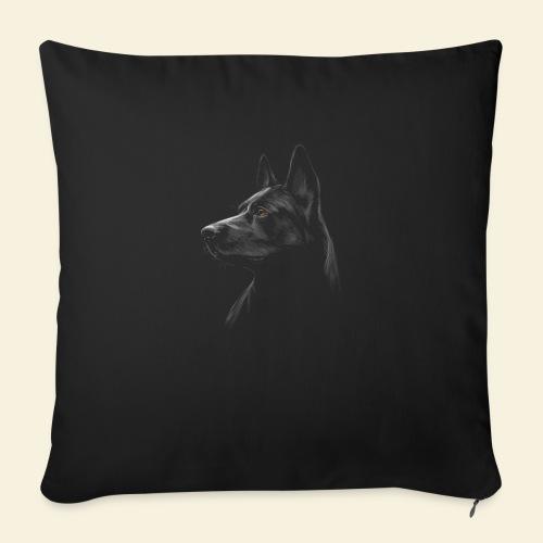 schwarzer Schäferhund / Malinois - Sofakissen mit Füllung 44 x 44 cm