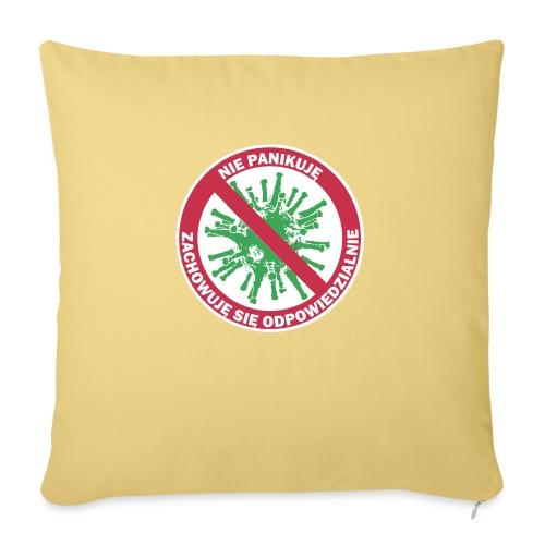 nie panikuje corona-virus - Poduszka na kanapę z wkładem 44 x 44 cm