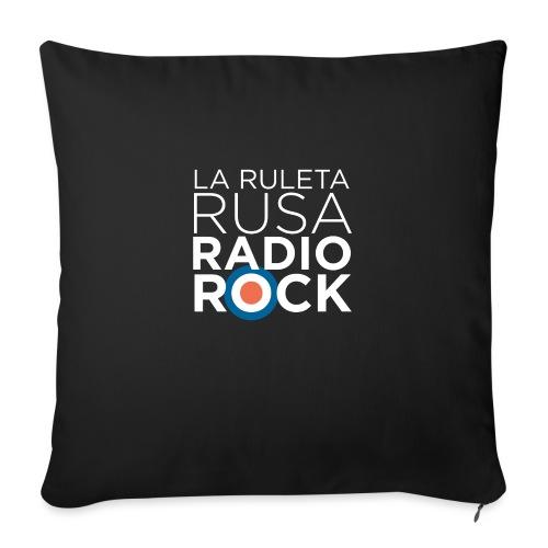 La Ruleta Rusa Radio Rock. Retrato blanco - Cojín de sofá con relleno 44 x 44 cm