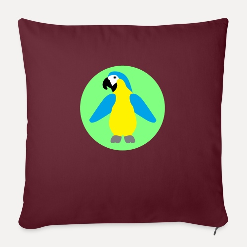 Yellow-breasted Macaw - Sofa pillow with filling 45cm x 45cm