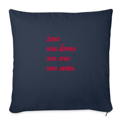 sono una donna - Cuscino da divano 44 x 44 cm con riempimento