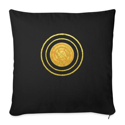 Glückssymbol Sonne - positive Schwingung - Spirale - Sofakissen mit Füllung 44 x 44 cm