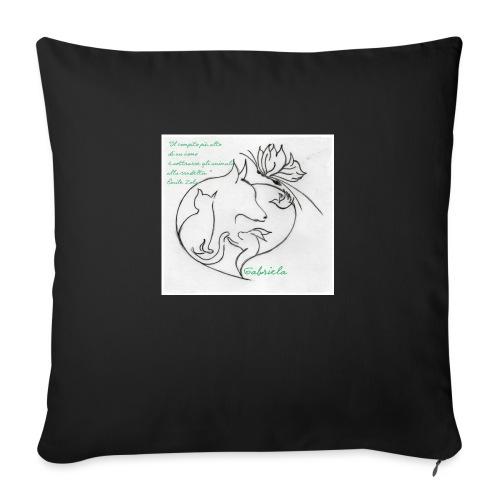 Tutti nel cuore - Cuscino da divano 44 x 44 cm con riempimento