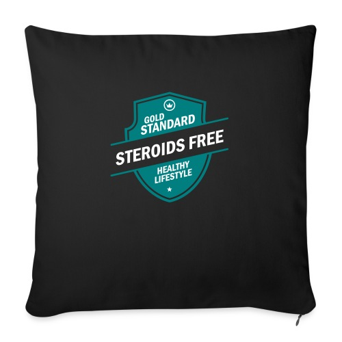 GoldStd-SteroidsFree-33 - Sofa pillow with filling 45cm x 45cm