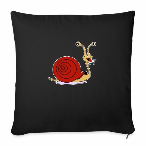 Escargot rigolo red version - Coussin et housse de 45 x 45 cm
