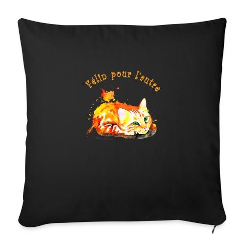 Chat roux,Félin pour l'autre - Coussin et housse de 45 x 45 cm