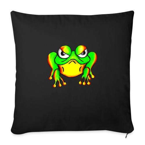 Angry Frog - Coussin et housse de 45 x 45 cm