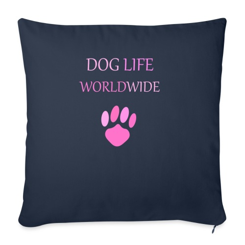 Pink Paw Print - Sofa pillow with filling 45cm x 45cm