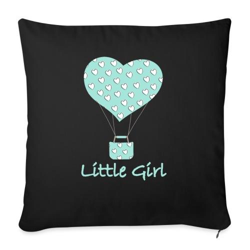 Little Girl in mongolfiera - Cuscino da divano 44 x 44 cm con riempimento