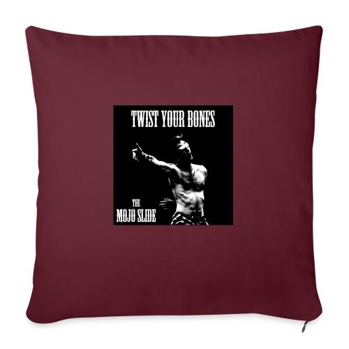 Twist Your Bones - Design 1 - Sofa pillow with filling 45cm x 45cm