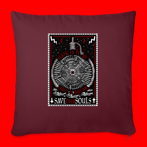 SaveOurSouls - Sofa pillow with filling 45cm x 45cm