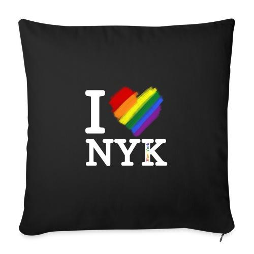I love NYK - Cojín de sofá con relleno 44 x 44 cm