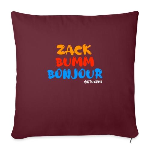 Die Zock Stube - ZackBummBonjour - Sofakissen mit Füllung 44 x 44 cm